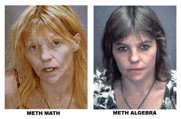 Julie Sinatra stopped Meth Math for two hours when she encountered Meth Algebra regaining some of her looks.