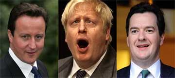 David Cameron, Boris Johnson and George Osborne