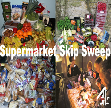 A small selection of goods available to supermarket skippers all for free