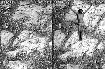 Before and After Jesus Mars rover photo