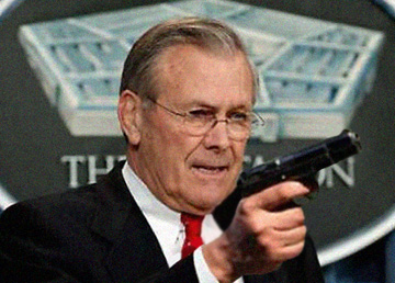 Former Neocon Secretary of Defence for the United States, Donald Rumsfeld