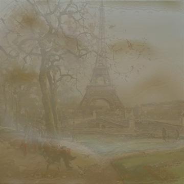 An artist's depiction of Paris today
