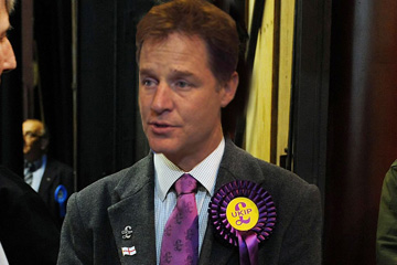 Former Lib Dem leader, Nick Clegg interviewed immediately after announcing joining Britain's Ukip party