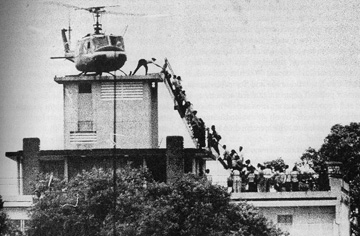 The evacuation of Saigon April 30, 1975