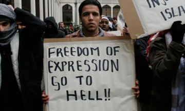 Muslim protesters