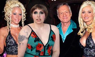 Lena Dunham at the Playboy Mansion 2