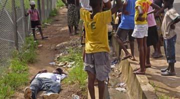 ebola dumped