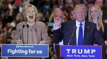 clinton trump new york