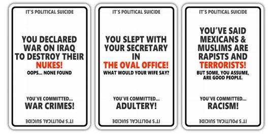 political suicide cards