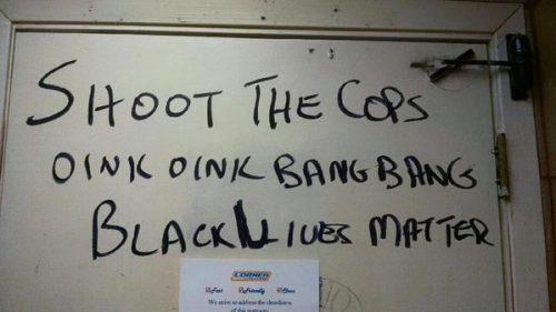 Shoot-the-Cops-Graffiti-black lives matter