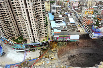 sinkhole-Dongguan-china