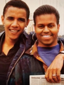 barack and mike obama