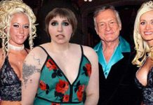 Lena Dunham at the Playboy Mansion 2