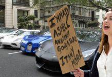 austerity millionaire celebrity