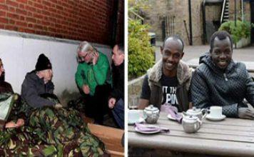 homeless vets uk illegal migrants