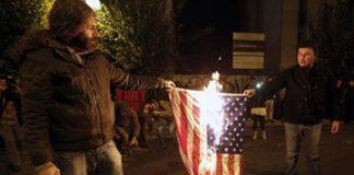 GREECE_MARCH_BURN_US_FLAG