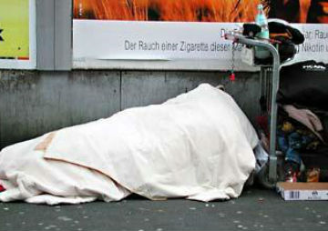 homeless germany
