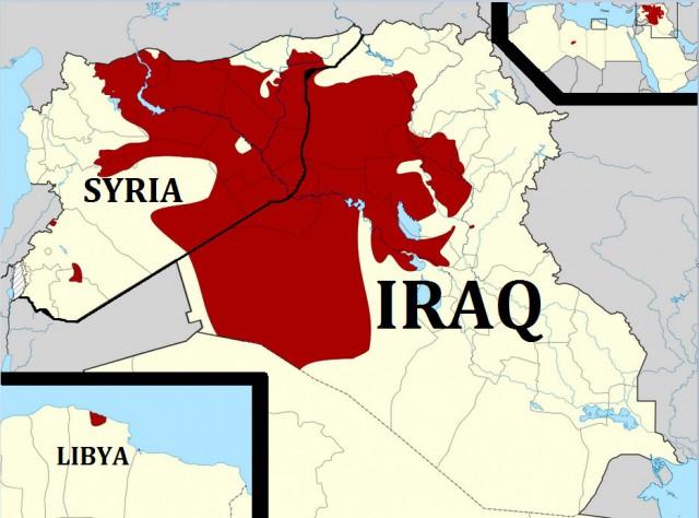 ISIS territory Iraq Syria 2015