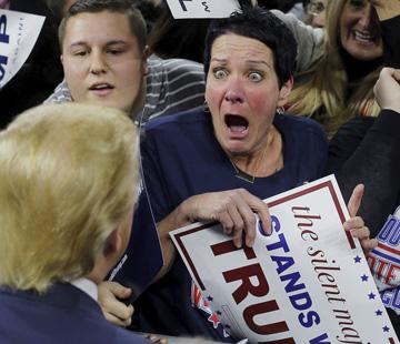 crazy Trump woman