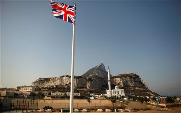 UNION JACK Gibrlatar Europa Point