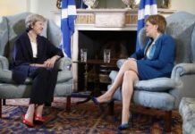 theresa may and sturgeon