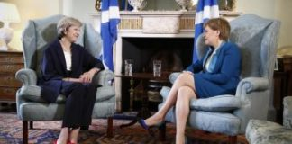 theresa may and sturgeon