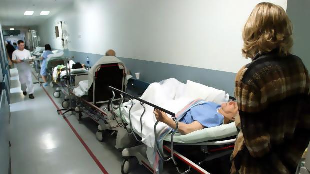 nhs corridor patients