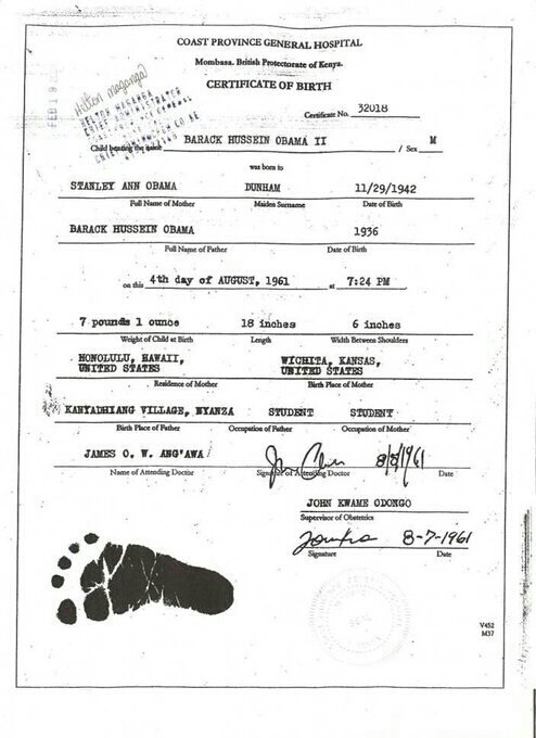 obama real birth certificate