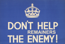 dont help the enemy -remainers