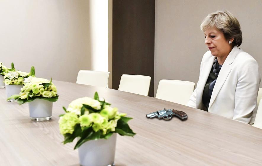 theresa may brexit table gun1