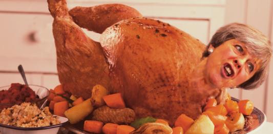 cooked christmas turkey theresa may