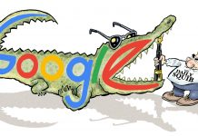 google vs daily squib satire cartoon