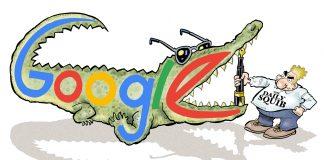 google vs daily squib satire cartoon