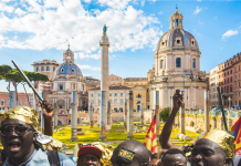 EU Angry African Illegal Immigrants, Rome Depositphotos_170368544_l-2015