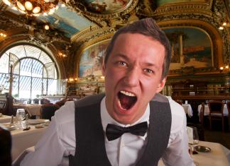 french waiter restaurant