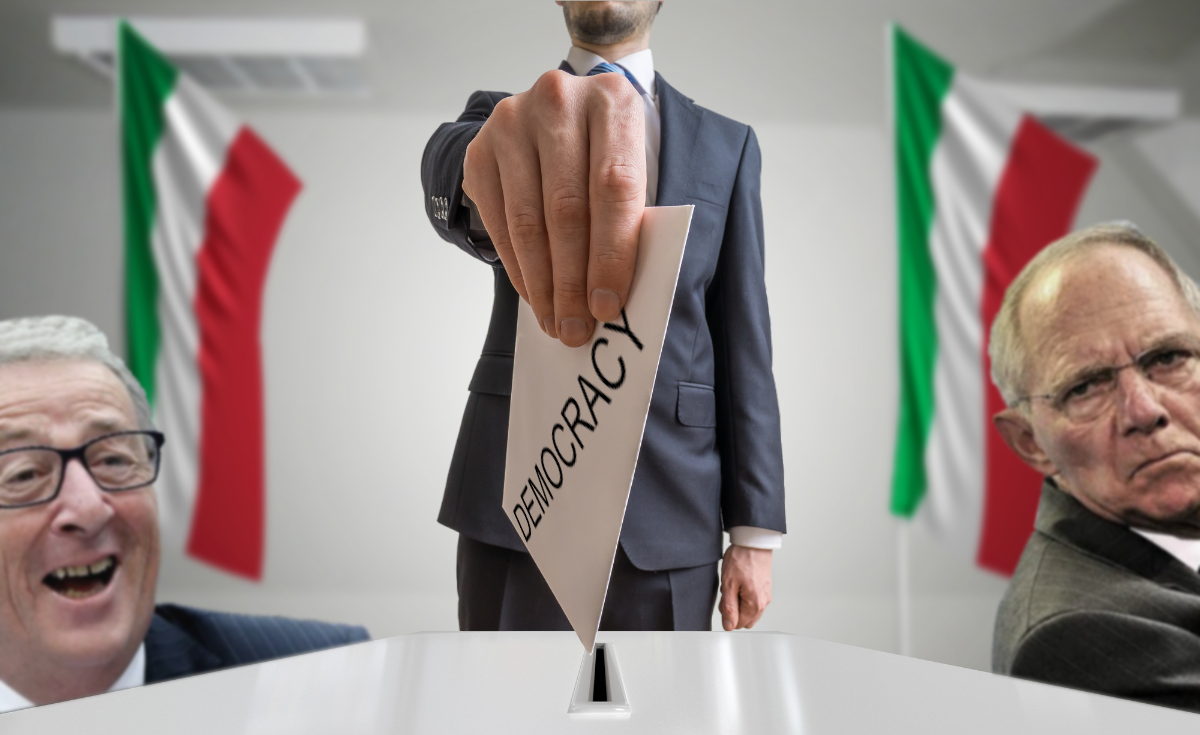 EU DESTROYS Italian democratic election