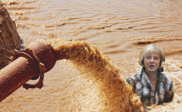 theresa may sewage BRINO