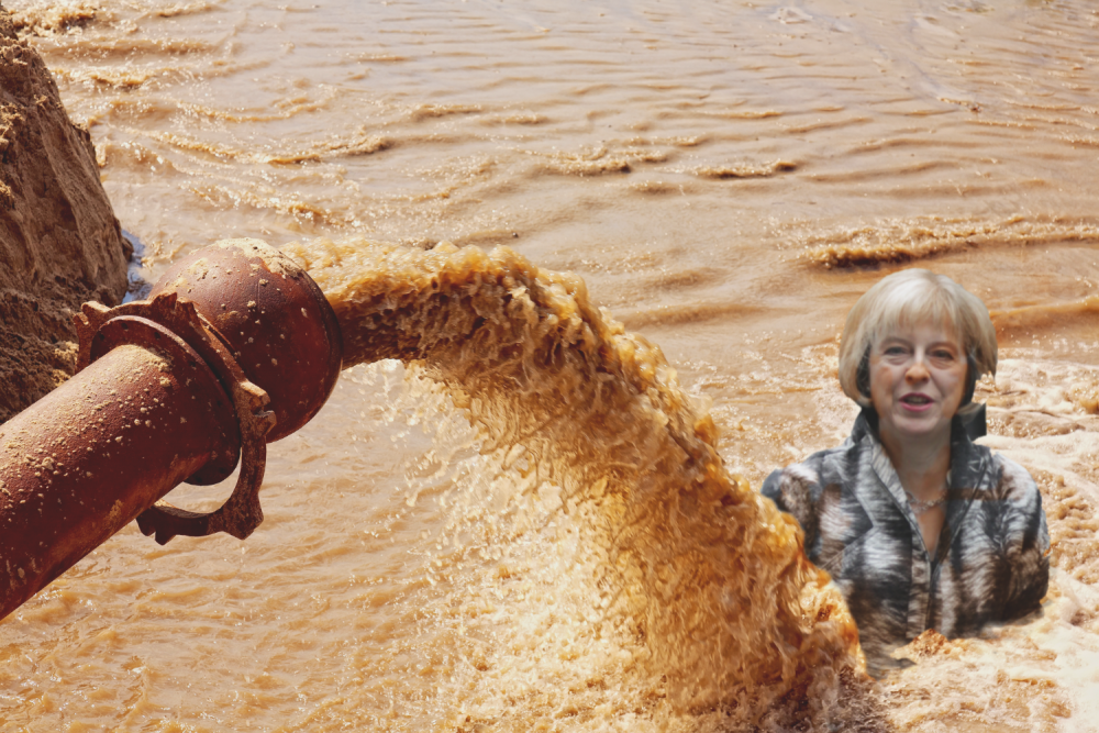 theresa may sewage BRINO
