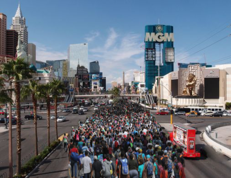 gamblers migrant caravan