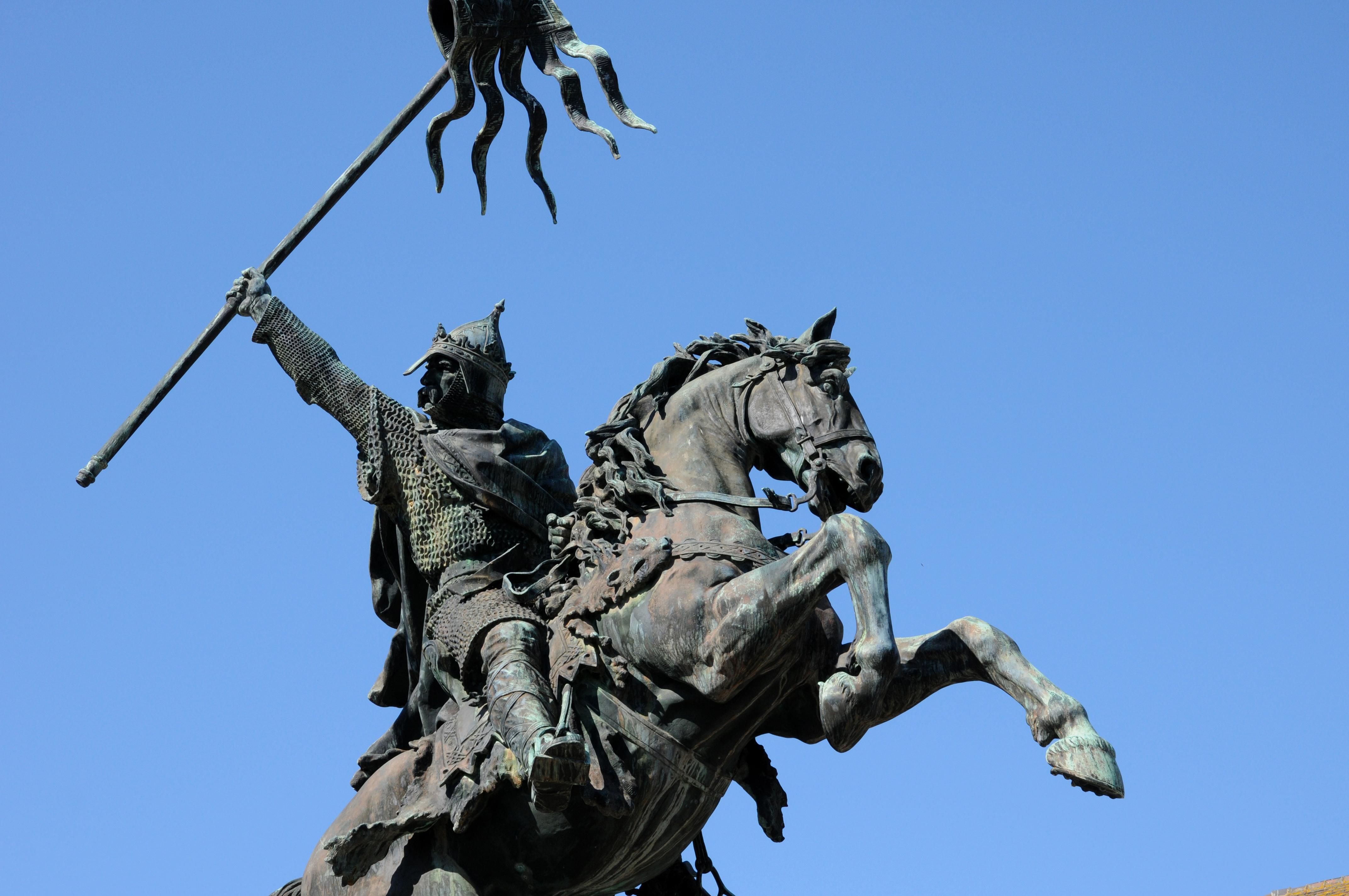 William the Conqueror statue in Falaise in Normandie