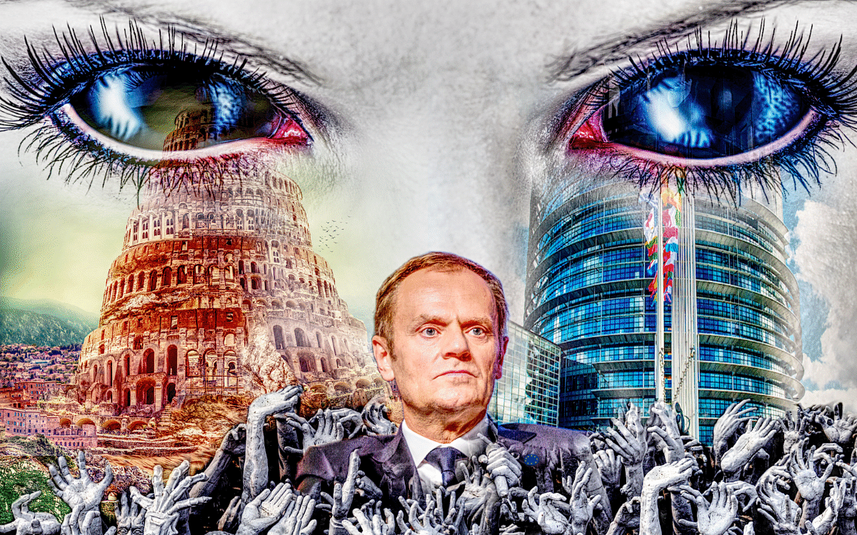donald tusk european union hell tower of babel strasbourg eu parliament brexit