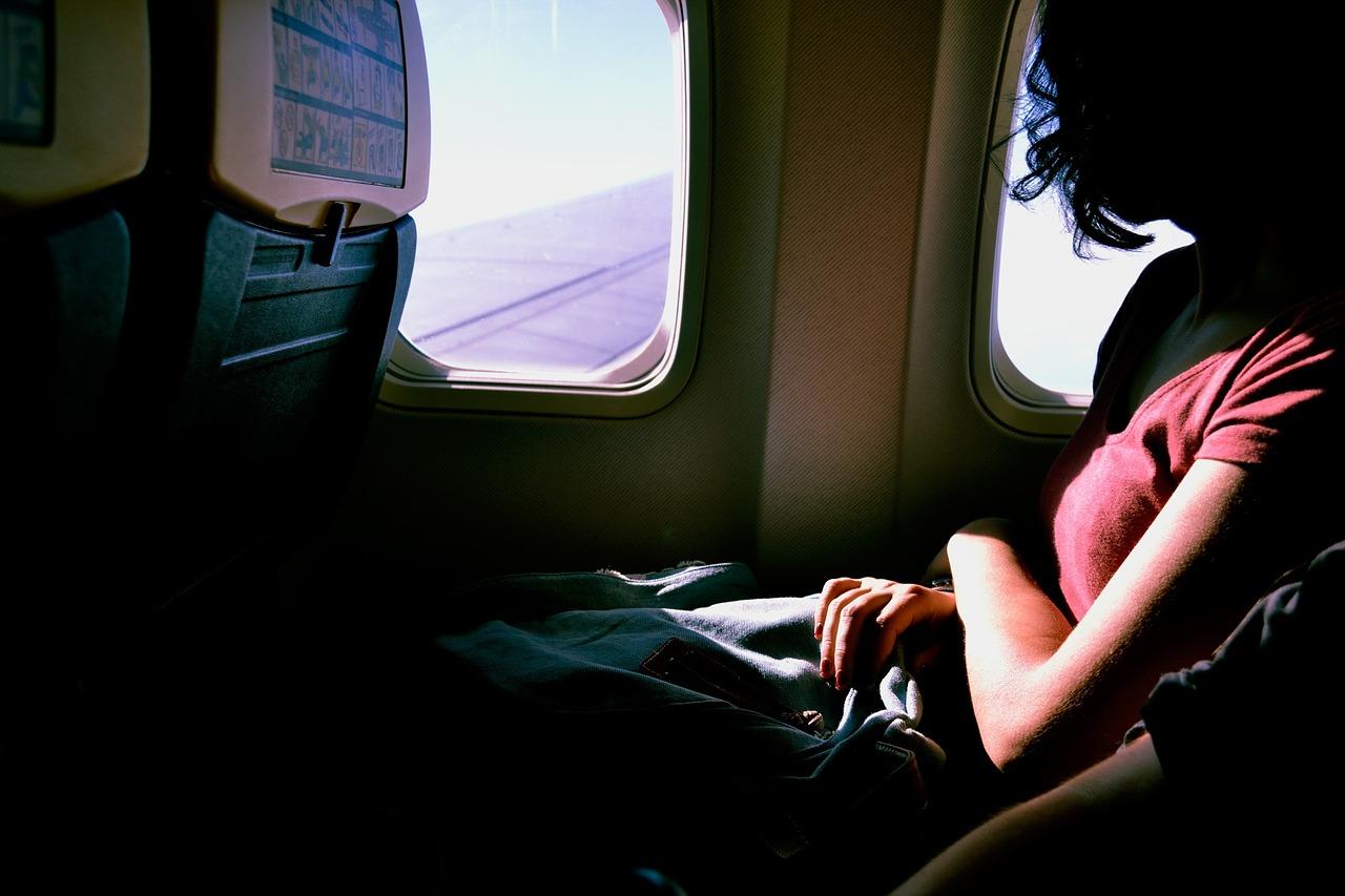 airplane-solo female travel