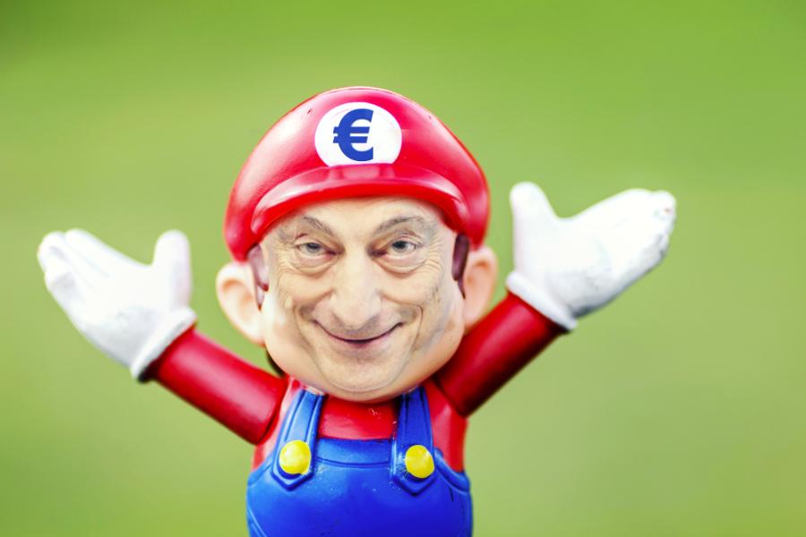 Mario Draghi ECB political satire