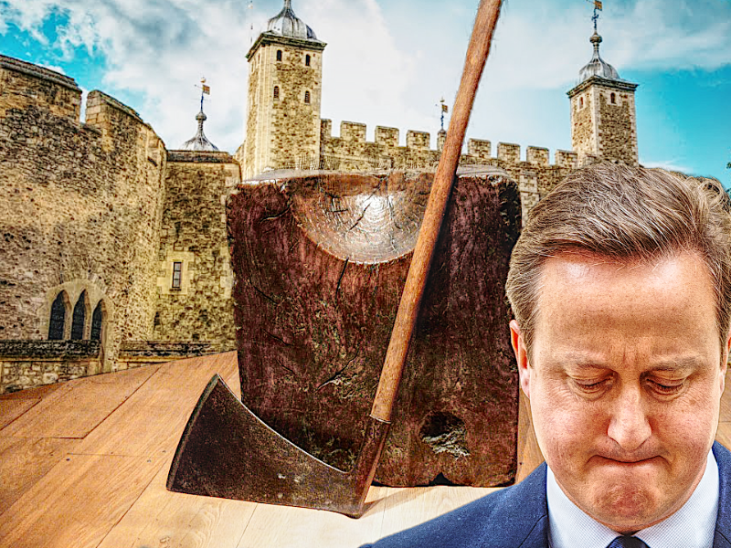 Tower of London - David Cameron - The Queen