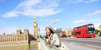 London travel woman tourist stabbing