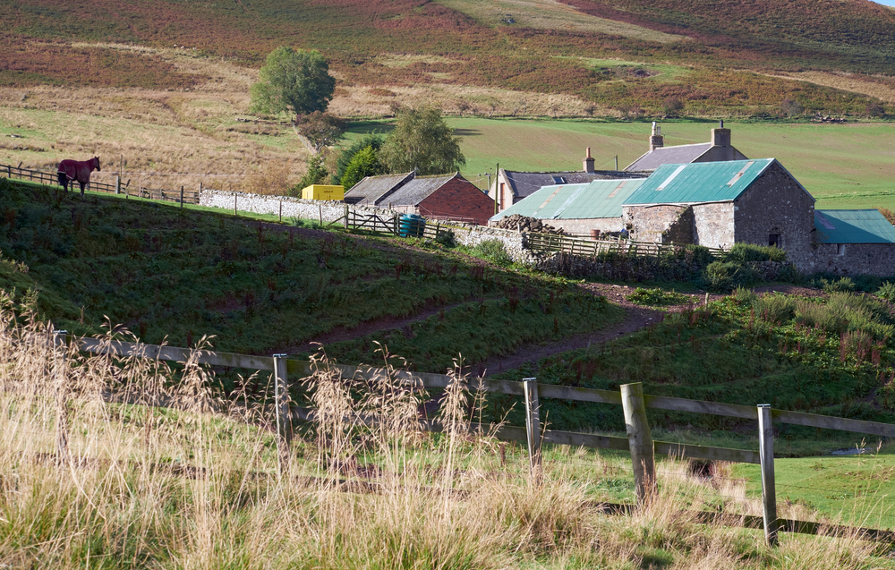 Farmhouse in Northumberland, North East England. UK.
