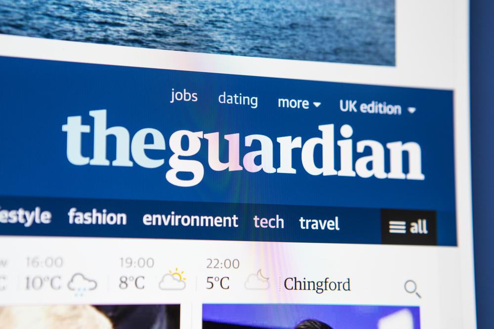 The Guardian Newspaper Website
