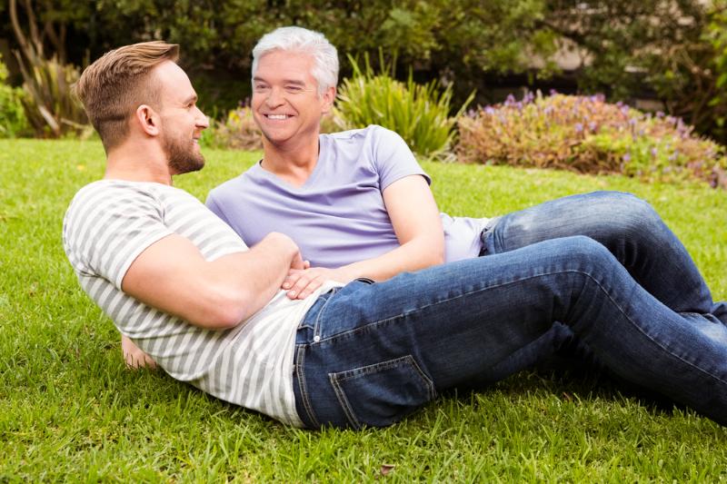 Happy gay couple phillip schofield