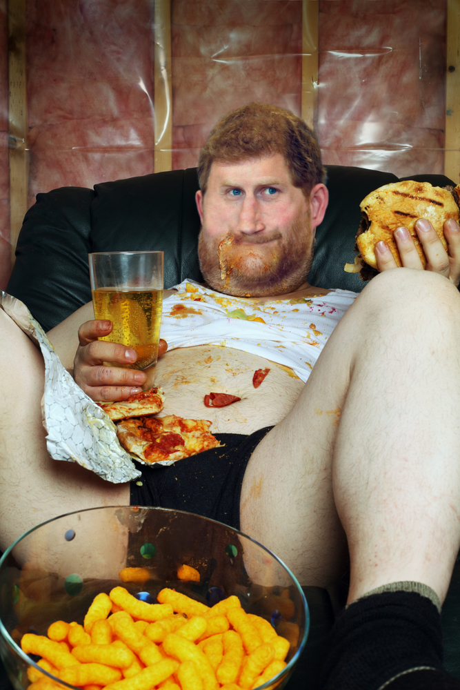 Couch potato prince harry bloat