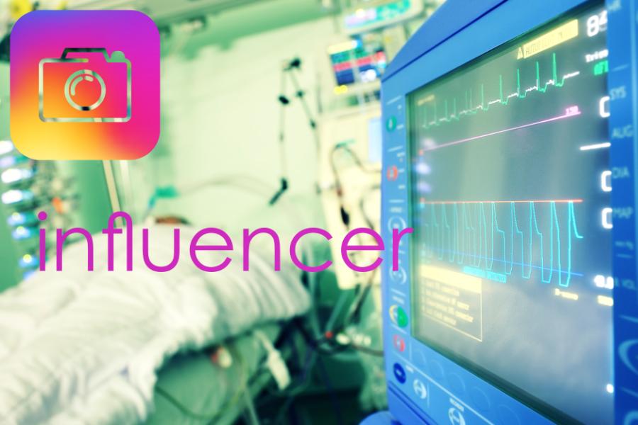 Instagram Influencer ICU coronavirus